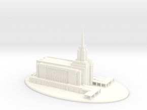 Wedding Topper, LDS Oquirrh Mountain, Utah Temple in White Strong & Flexible Polished
