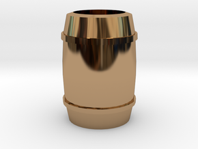 """Barrel"" - A Monopoly figure in Polished Brass"