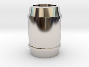 """Barrel"" - A Monopoly figure in Rhodium Plated Brass"