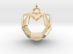 Triangles Pendant in 14k Gold Plated Brass