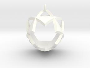 Triangles Pendant in White Processed Versatile Plastic