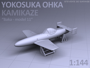 Japanese YOKOSUKA OHKA - Kamikaze airplane in Smooth Fine Detail Plastic