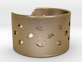 Bird Bracelet X Small Ø53 Mm/Ø2.086 inch in Polished Gold Steel