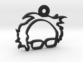 Bernie Sanders Keychain in Black Natural Versatile Plastic