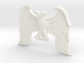 Imperial Eagle Statue in White Processed Versatile Plastic