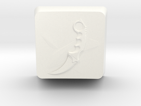 Karambit Keycap in White Strong & Flexible Polished