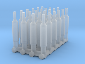 1:48 24 Wine Bottles in Smooth Fine Detail Plastic