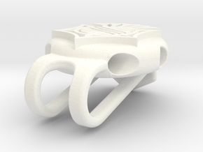 Golf Tee Hat Clip in White Processed Versatile Plastic