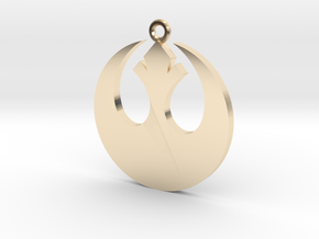 Star Wars Rebel Alliance Charm in 14k Gold Plated Brass