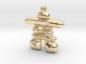 Inukshuk in 14K Gold