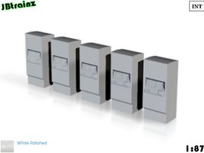 5 Ticket machines (1:87) in White Strong & Flexible Polished