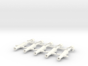 5 x Swivel Gun in White Processed Versatile Plastic