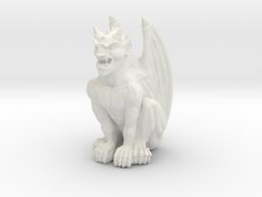 Gargoyle Statue v2 in White Strong & Flexible