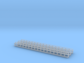 1/64 Rolling Baskets 17ft Set of 3 Baskets in Smooth Fine Detail Plastic