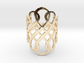 Celtic Knot Ring Size 7 in 14K Yellow Gold