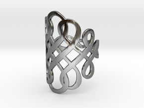 Celtic Knot Ring Size 8 in Fine Detail Polished Silver
