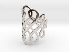 Celtic Knot Ring Size 8 in Rhodium Plated Brass
