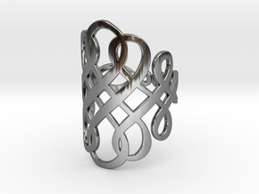 Celtic Knot Ring Size 11 in Fine Detail Polished Silver