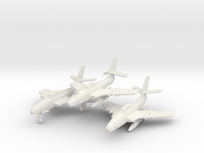 Republic RF-84F Thunderflash (3 airplanes) 1/285 in White Natural Versatile Plastic
