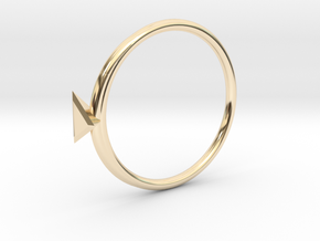 Ring Tetrahedron in 14k Gold Plated: 4 / 46.5