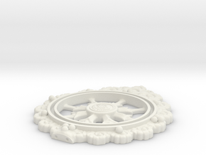 Wheeltop30 in White Natural Versatile Plastic