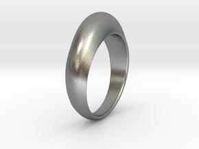 Ø0.674 inch Streamlined Ring Model B Ø17.13 mm in Natural Silver