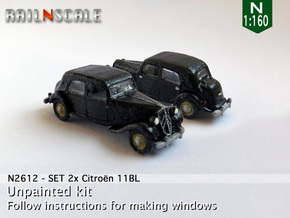 SET 2x Citroën 11BL (N 1:160) in Frosted Ultra Detail
