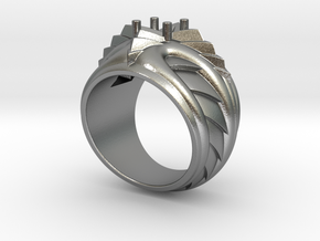 Poseidon Ring - Size 12 (21.49 mm) in Natural Silver