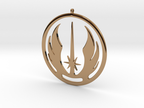 Symbol of the Jedi Order in Polished Brass