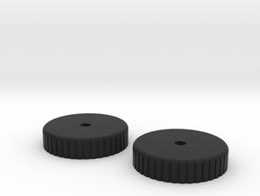 VooDoo2_WHEEL in Black Natural Versatile Plastic