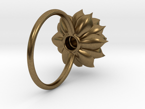 Succulent Stacking Ring No. 5 in Natural Bronze: 5 / 49