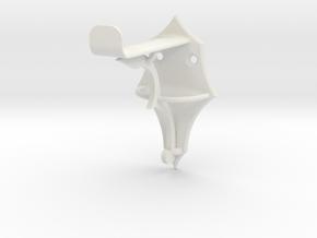 Bow Hanger in White Natural Versatile Plastic