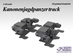 1/48 Kanonenjagdpanzer track in Smooth Fine Detail Plastic