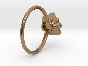 Succulent Stacking Ring No. 4 in Natural Brass: 5 / 49