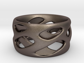 Ring Eye in Polished Bronzed Silver Steel