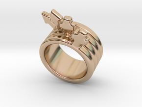 Love Forever Ring 27 - Italian Size 27 in 14k Rose Gold Plated Brass