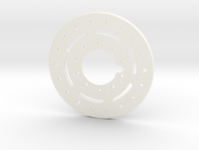 1.9 Military style Beadlock ring for Axial wheels in White Strong & Flexible Polished