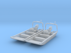 Flat Bottom Boat 01.  HO Scale (1:87) in Smooth Fine Detail Plastic