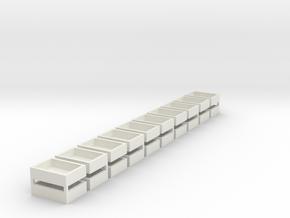15x11x4 (20 Set) Speaker Boxes in White Natural Versatile Plastic