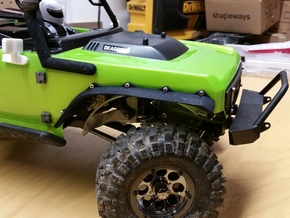 Axial SCX10 Deadbolt Fender Flares in Black Natural Versatile Plastic