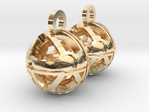 Craters of Phoebe Earrings in 14k Gold Plated Brass