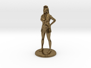 Nurse with Needle - 28 mm version in Natural Bronze
