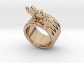 Love Forever Ring 28 - Italian Size 28 in 14k Rose Gold Plated Brass