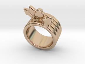 Love Forever Ring 29 - Italian Size 29 in 14k Rose Gold Plated Brass