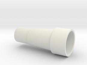 Exhaust Port Coupler Am6 in White Natural Versatile Plastic