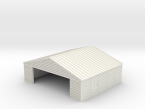 1:350  Wooden Hangar 1 in White Natural Versatile Plastic