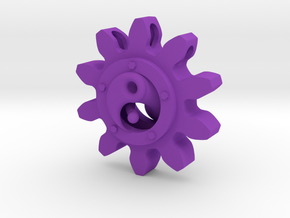 Yin yang Pendant in Purple Processed Versatile Plastic