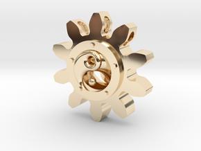 Yin yang Pendant in 14k Gold Plated Brass