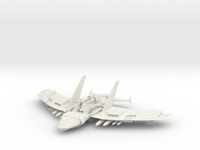 JET FIGHTER BOMBER1 in White Strong & Flexible