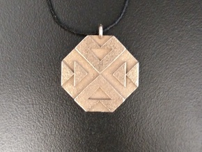 Triangles Pendant in Polished Bronzed Silver Steel